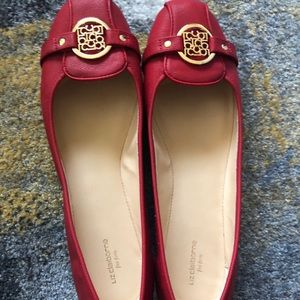 Liz Claiborne Red Ballet Flat